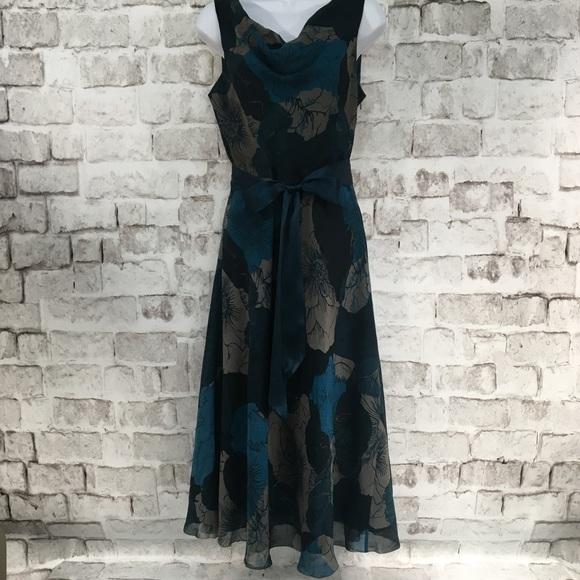 Banana Republic Dresses & Skirts - Banana Republic Dress Cowl Neck Teal Gray SZ 4